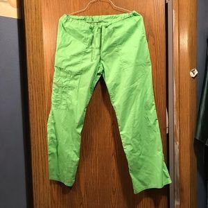 Bright Green Scrub Pants